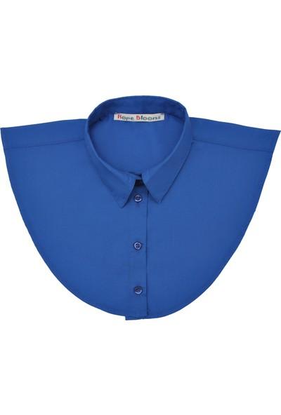 Hope Blooms Kadın Sahte Gömlek Yaka (Mavi)