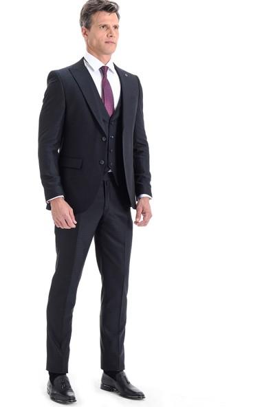 Morven Plain Yelekli Takım Elbise Lacivert