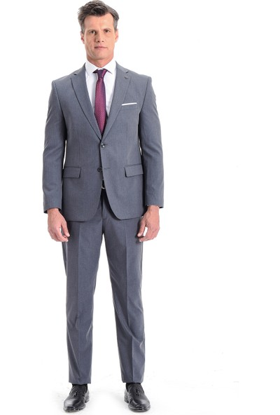 Morven Milas Regular Fit Takım Elbise Füme