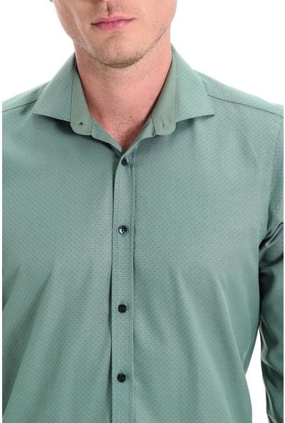 Morven Nopa Ekstra Slimfit Uzun Kollu Gömlek Yeşil
