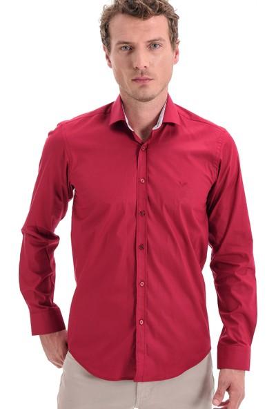 Morven Fashion Trend Gömlek Bordo