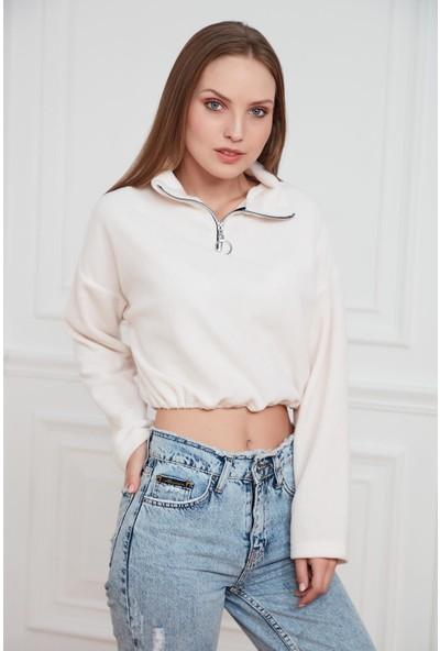 Morpile Polar Yarım Fermuarlı Sweatshirt