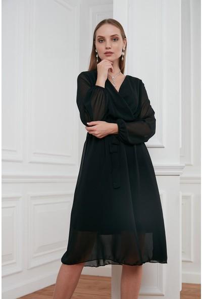 Morpile Kruvaze Elbise