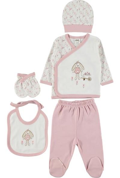 Civil Baby Kız Bebek 5'Li Zıbın Takımı 0-3 Ay Pudra