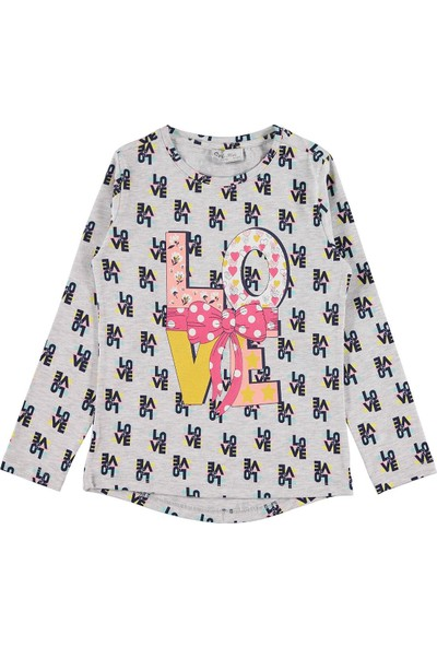 Cvl Kız Çocuk Sweatshirt 6-9 Yaş Gri