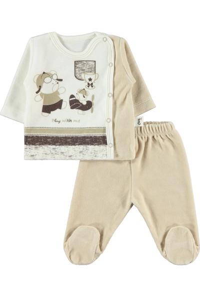 Civil Baby Erkek Bebek 5'Li Zıbın Takımı 0-3 Ay Kahverengi