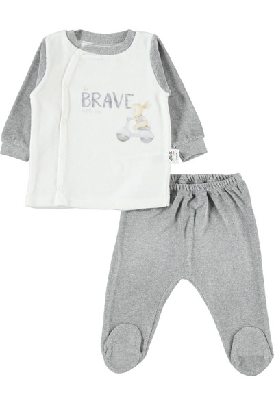 Civil Baby Erkek Bebek Takım 0-6 Ay Gri