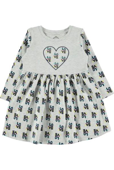Cvl Kız Çocuk Elbise 2-5 Yaş Gri