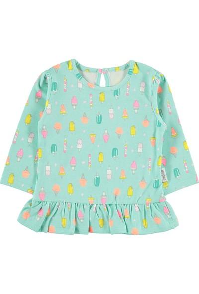 Kujju Kız Bebek Sweatshirt 6-18 Ay Mint Yeşili