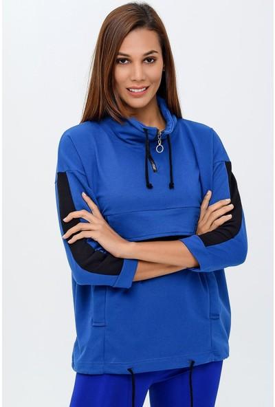 Buklemoda Kadın Cepli Sweatshirt