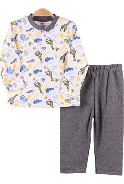 Breeze Erkek Bebek Pijama Takımı Gri 3-9 Ay