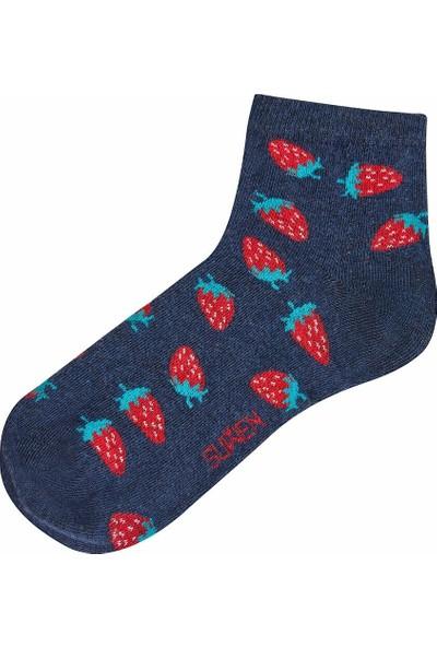 Suwen Strawberry Soket Çorap - Lacivert