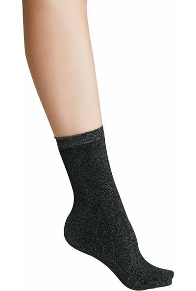 Suwen Shinny Soket Çorap - Siyah