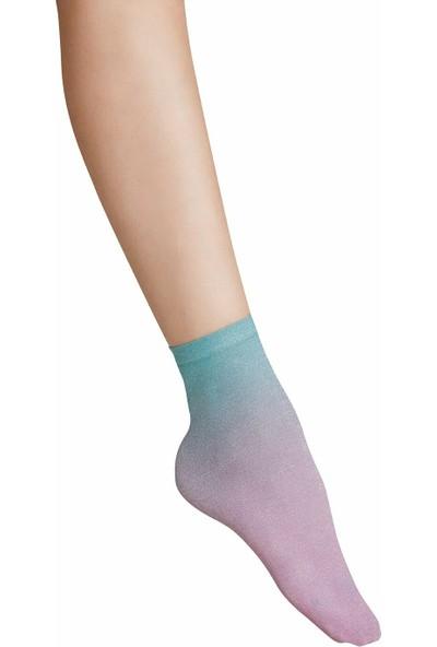Suwen Shinny Soket Çorap - Gökkuşağı
