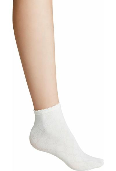 Suwen Ajur Soket Çorap - Ekru