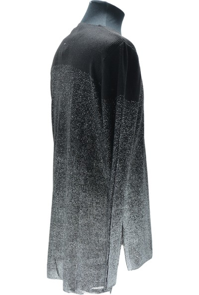 My STORE20 Siyah-Gri Simli Çelik Triko