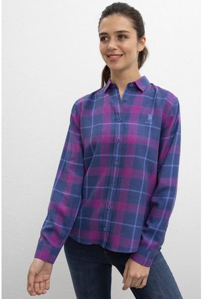 U.S. Polo Assn. Kadın Dokuma Gömlek 50207169-Vr037