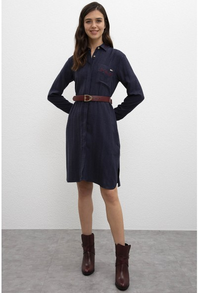 U.S. Polo Assn. Kadın Dokuma Elbise 50207763-Vr033