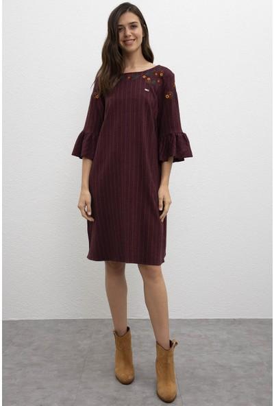 U.S. Polo Assn. Kadın Dokuma Elbise 50213146-Vr175