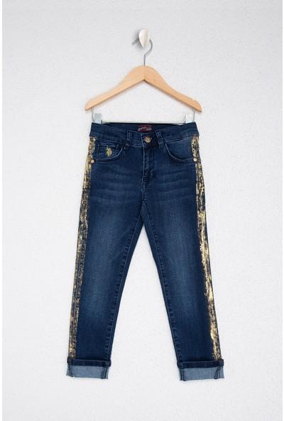 U.S. Polo Assn. Kız Çocuk Denim Pantolon 50215606-Dn0022