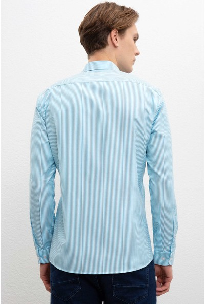 U.S. Polo Assn. Erkek Dokuma Gömlek 50219939-Vr093