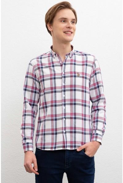 U.S. Polo Assn. Erkek Dokuma Gömlek 50220247-Vr030