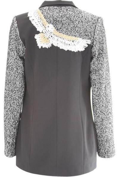 Miarte 18224 Kadın Ceket Siyah