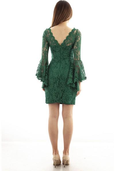 Ardanewline Kadın Zümrüt Elbise 130103-10.123