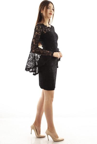 Ardanewline Kadın Siyah Elbise 130103-11.01