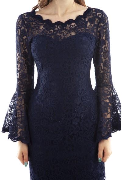 Ardanewline Kadın Lacivertvert Elbise 130103-12.02