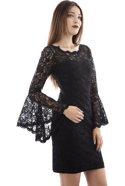 Ardanewline Kadın Siyah Elbise 130103-14.01