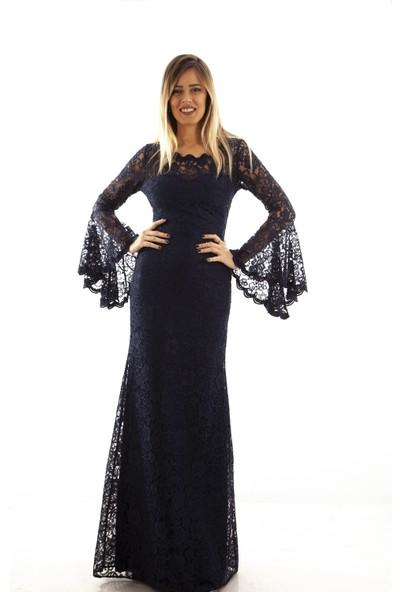Ardanewline Kadın Lacivertvert Elbise 130105-10.02