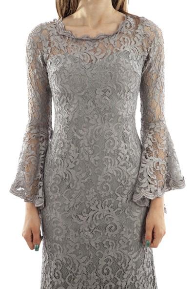 Ardanewline Kadın Gri Elbise 130105-10.06