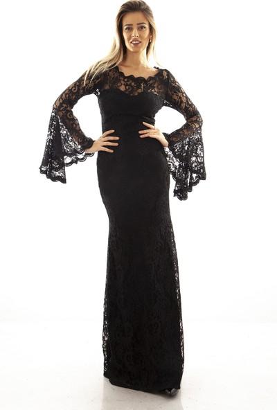 Ardanewline Kadın Siyah Abiye 130105-13.01