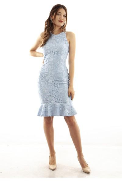 Ardanewline Kadın Mavi Elbise 130136-10.16