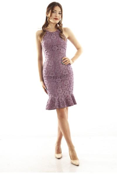 Ardanewline Kadın Gül Elbise 130136-10.25