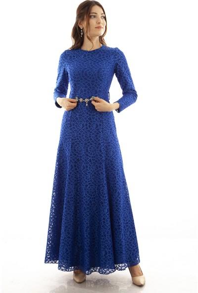 Ardanewline Kadın Saks Elbise 6502005-11.26
