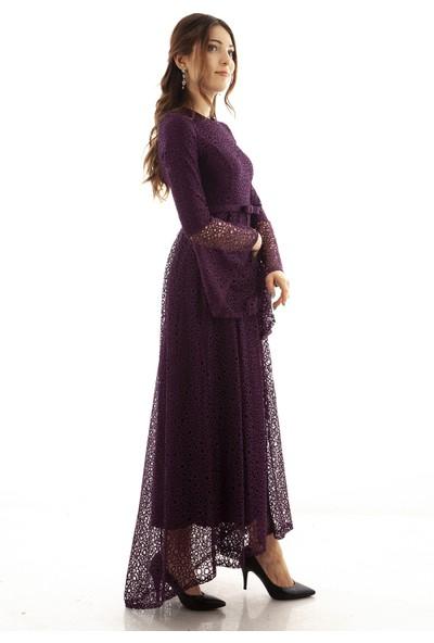 Ardanewline Kadın Mor Elbise 6502140-11.03