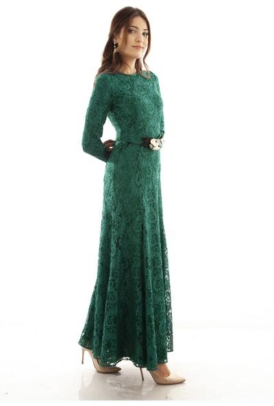 Ardanewline Kadın Zümrüt Elbise 6507007-10.123