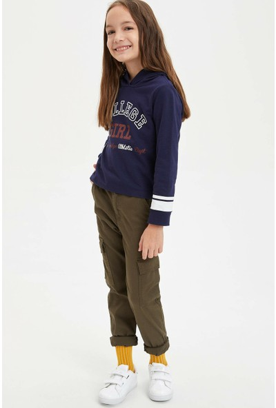 Defacto Lastikli Kargo Kız Çocuk Pantolon