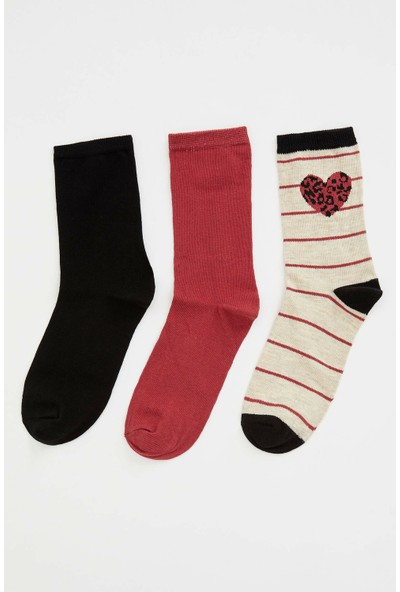 Defacto 3'lü Desenli Çorap