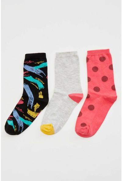 Defacto 3'lü Uzun Çorap