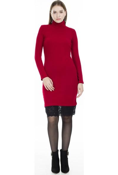 Lela Balıkçı Yaka Tül Detaylı Elbise Kadın Elbise 5452034Es