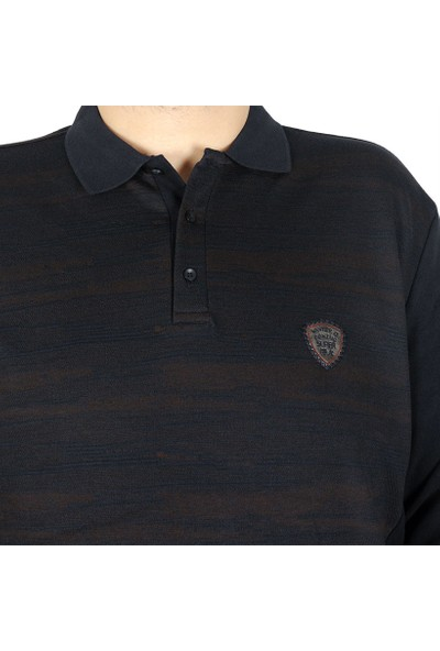 ModeXL Büyük Beden Erkek Sweatshirt Polo Italy 19450 Kahverengi