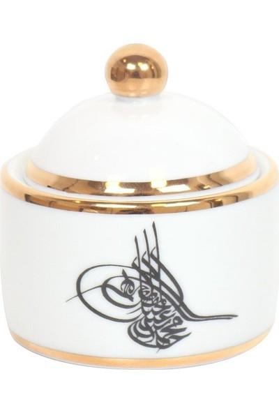 Nilhan Sultan Osmanlı Tuğralı Top Kapaklı Kutu
