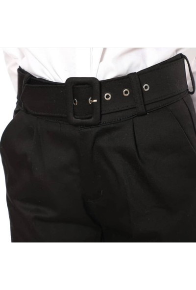 Giyense Kemerli Siyah Pantolon