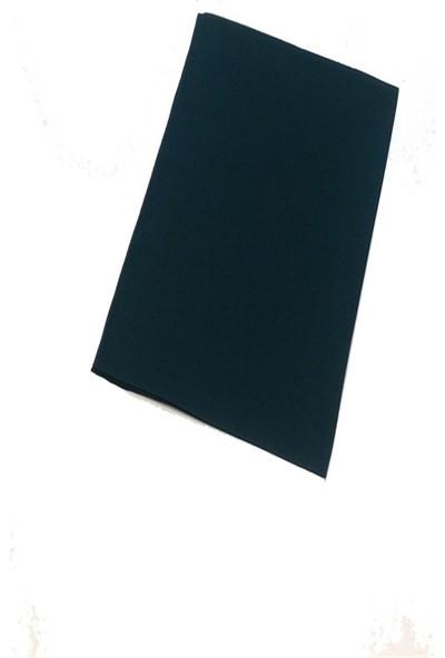 Mavi İpek Şifon Şal Zümrüt Yeşili