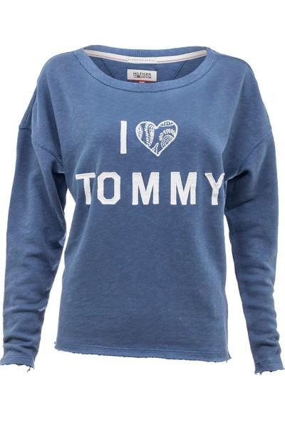 Tommy Hilfiger Kadın Sweatshirt Dw0Dw01800-412