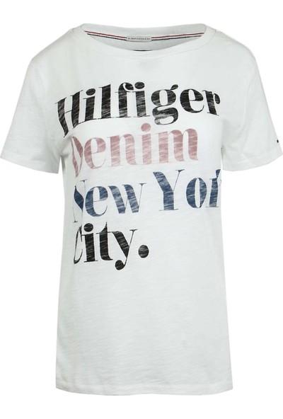 Tommy Hilfiger Kadın T-Shirt Dw0Dw01737-113
