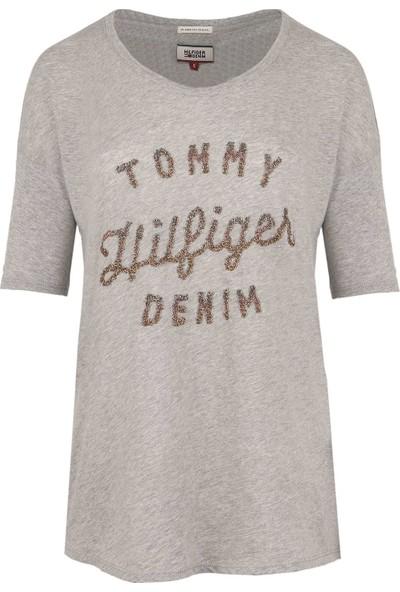 Tommy Hilfiger Kadın T-Shirt Dw0Dw01742-006